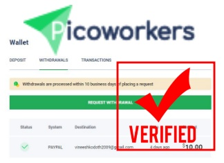 Photo of Picoworkers with New Look and PayPal Payment Proof